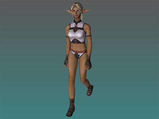 FF11 character creation model