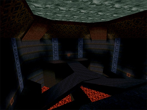 One of the original secret maps constructed for Saturn Quake.